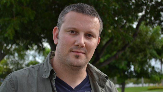 Jurnalistul Adrian Boioglu. FOTO L. B.