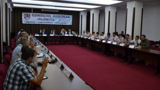 Ședința Consiliului Județean Ialomița. FOTO Facebook