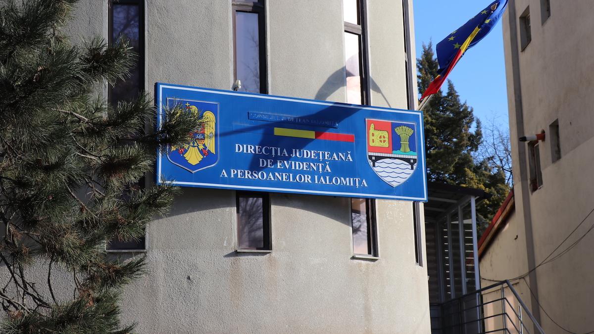 Direcția Județeană de Evidență a Persoanelor Ialomița. FOTO Adrian Boioglu