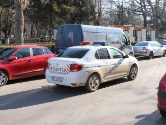 Mașină a Poliției Slobozia. FOTO Adrian Boioglu