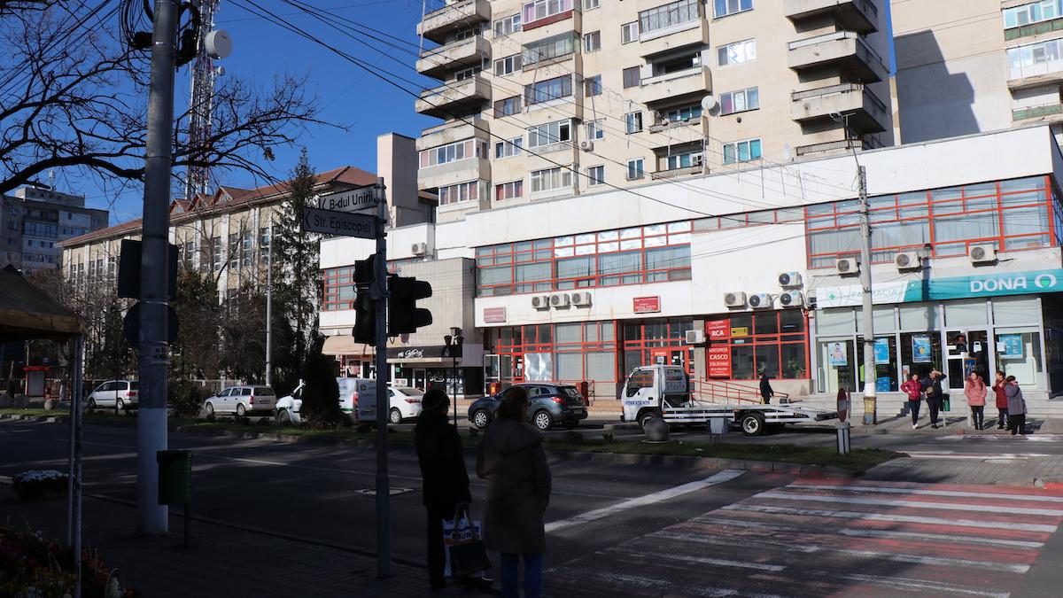 Trecere de pietoni din Slobozia. FOTO Adrian Boioglu