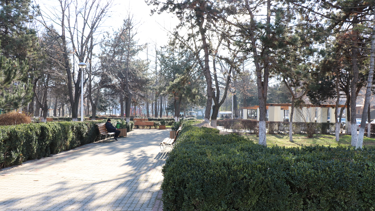 Parc în Slobozia. FOTO Adrian Boioglu
