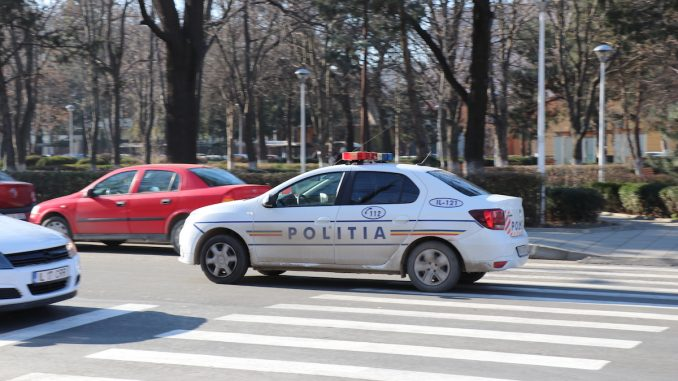 Mașină de poliție în Slobozia. FOTO Adrian Boioglu