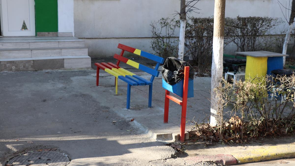 Băncuța tricoloră la Slobozia. FOTO Adrian Boioglu