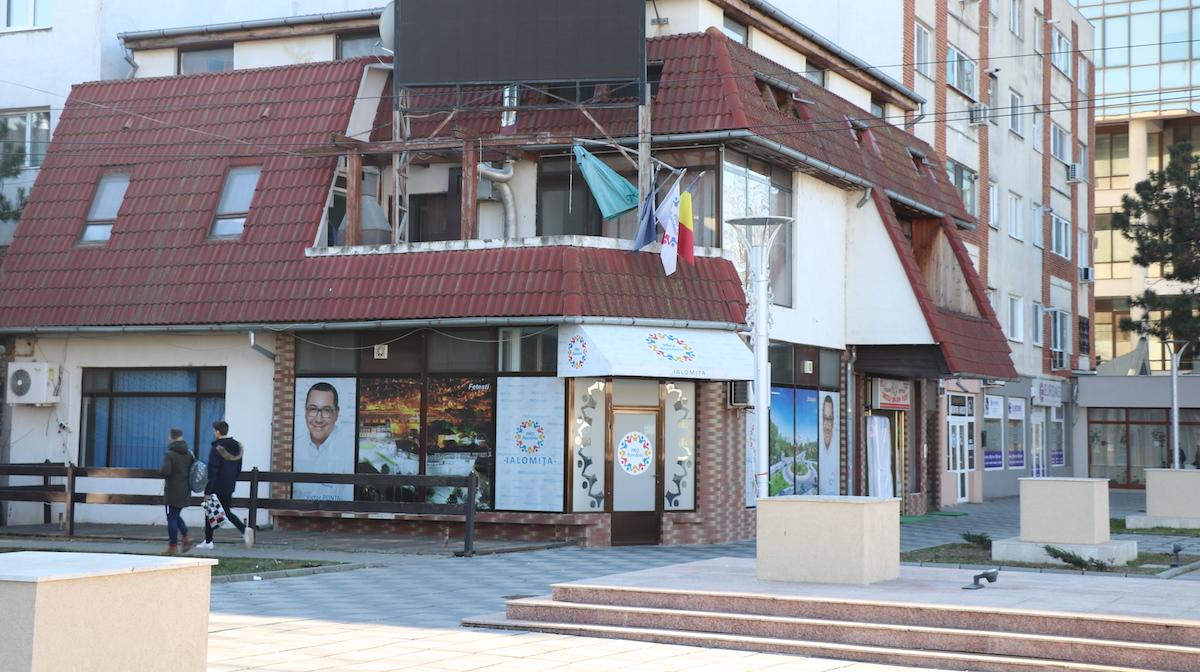 Sediul partidului Pro România, Ialomița. FOTO Adrian Boioglu