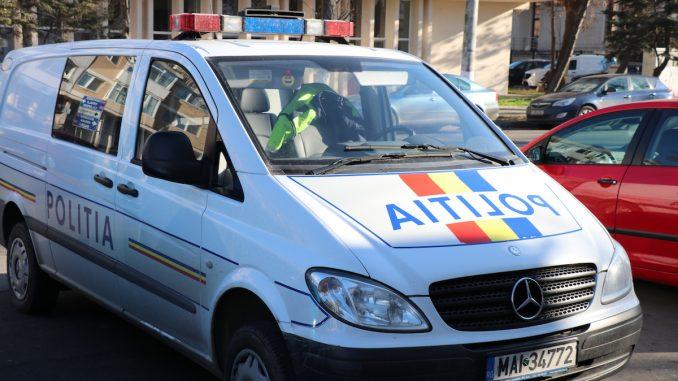 Mașină de poliție în Ialomița. FOTO Adrian Boioglu