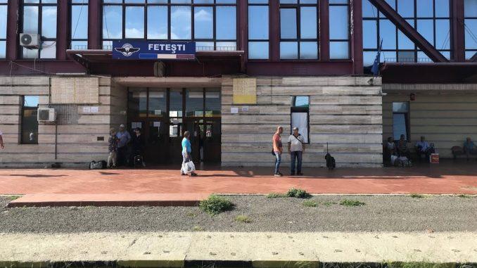 Gara din Fetești. FOTO Mihai Voiculescu