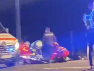 În urma accidentului au rezultat două victime. FOTO Captură video