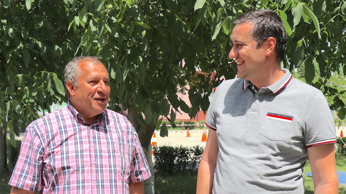 Primarul municipiului Fetești, Sorin Gafițoi și viceprimarul Laurențiu Șonchereche. FOTO Adrian Boioglu