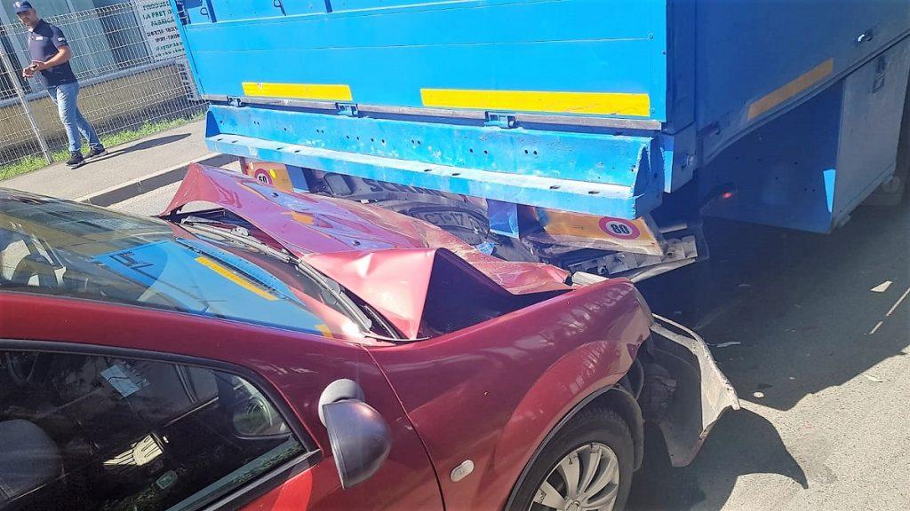 Accident rutier pe DN2, la ieșirea din municipiul Urziceni. FOTO IPJ Ialomița