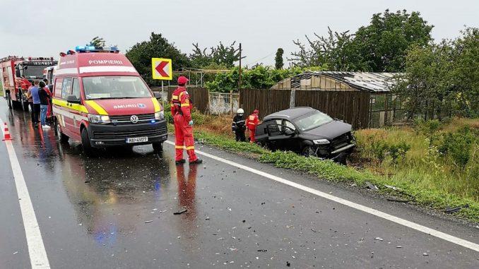 Accident rutier pe DN2A, în localitatea Ciochina. FOTO ISU Ialomița