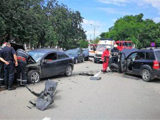 Accident rutier, soldat cu pagube materiale, produs în Slobozia. FOTO IPJ Ialomița