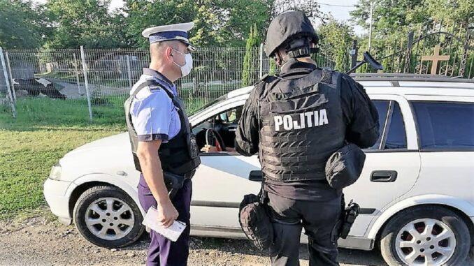 Acțiuni de prevenire a răspândirii virusului COVID-19 pe raza municipiului Slobozia. FOTO IPJ Ialomița
