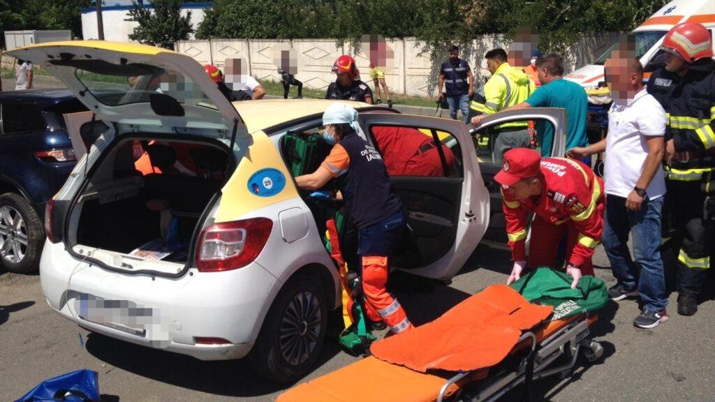Un mort și doi răniți într-un accident rutier în municipiul Fetești. FOTO IPJ Ialomița