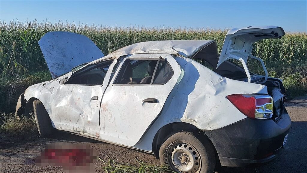 Accident rutier pe DC 27 între localitatea Roșiori și satul Chiroiu. FOTO IPJ Ialomița