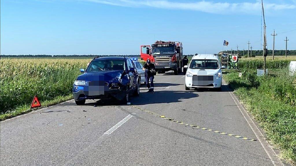 Accident rutier între localitățile ialomițene Rași și Orezu. FOTO IPJ Ialomița