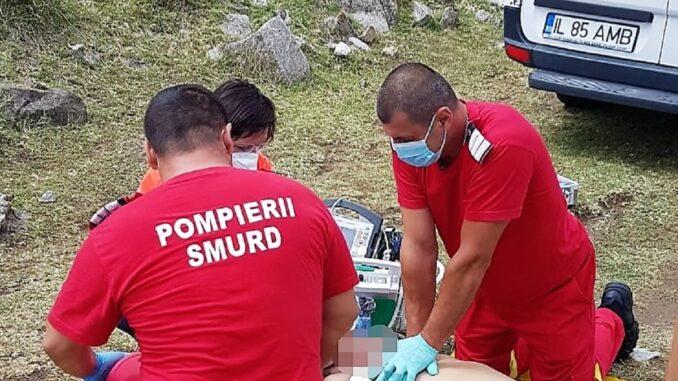 Bărbat decedat la scăldat în lacul Fundata. FOTO ISU Ialomița