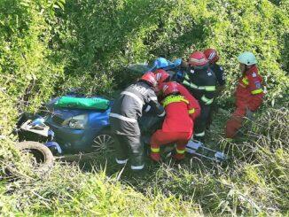 Trei persoane rănite într-un accident rutier petrecut la ieșirea din Coșereni. FOTO IPJ Ialomița